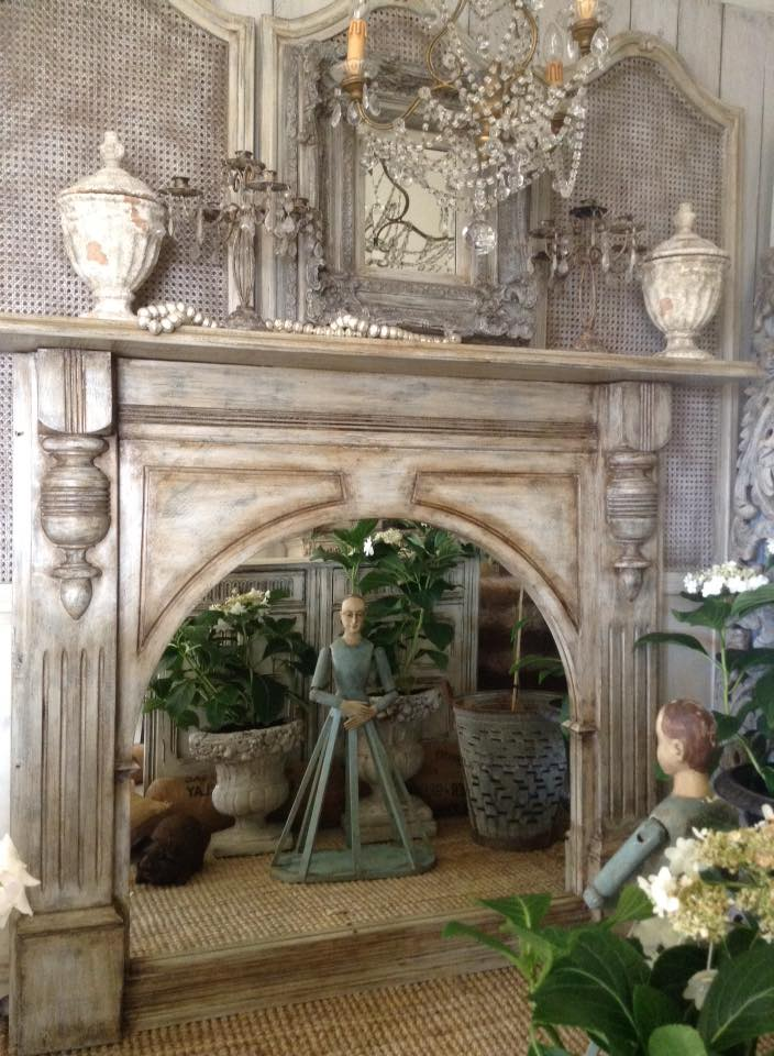 """Midnight In Paris!!"" Antiquated French Fireplace / Mirror..."