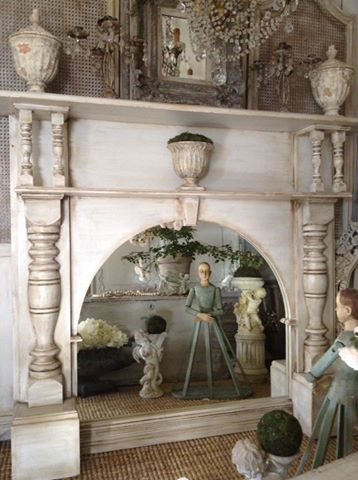 """French Fireplace Mirror LOVE!!"" x"