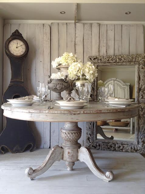 """Round Pedestal Dining Table LOVE!!"" x"