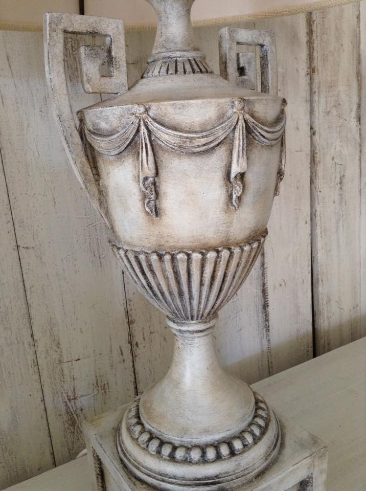"""French Urn Lamp LOVE!!"" x"
