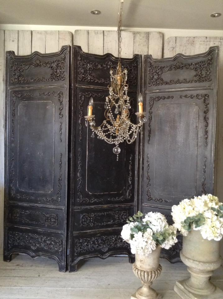 """Bal Du Moulin Rouge!!"" Baroque French BLACK Room Divider..."