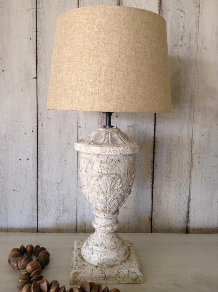 """Weathered Stone Lamp LOVE!!"" x"