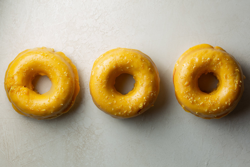 White Chocolate Donuts with Lemon Zest