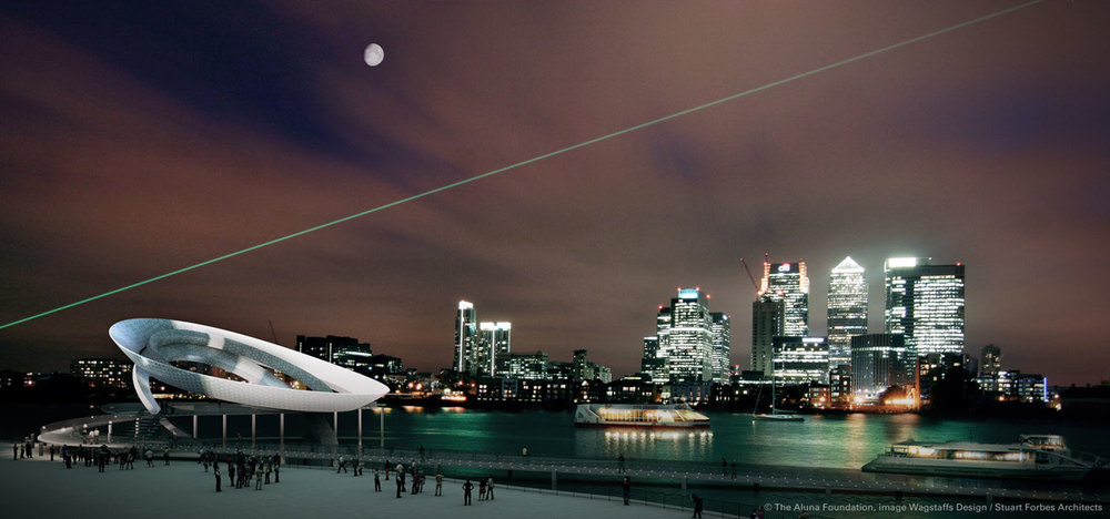 The Aluna Moon Clock (Aluna Foundation) proposed for a site on the Greenwich Peninsula