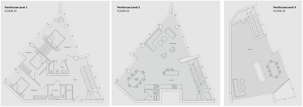 The Penthouse (levels 21-23), No. 2 Upper Riverside