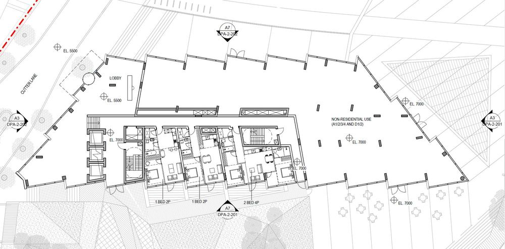 Floorplan: Ground Floor of No. 2 Upper Riverside