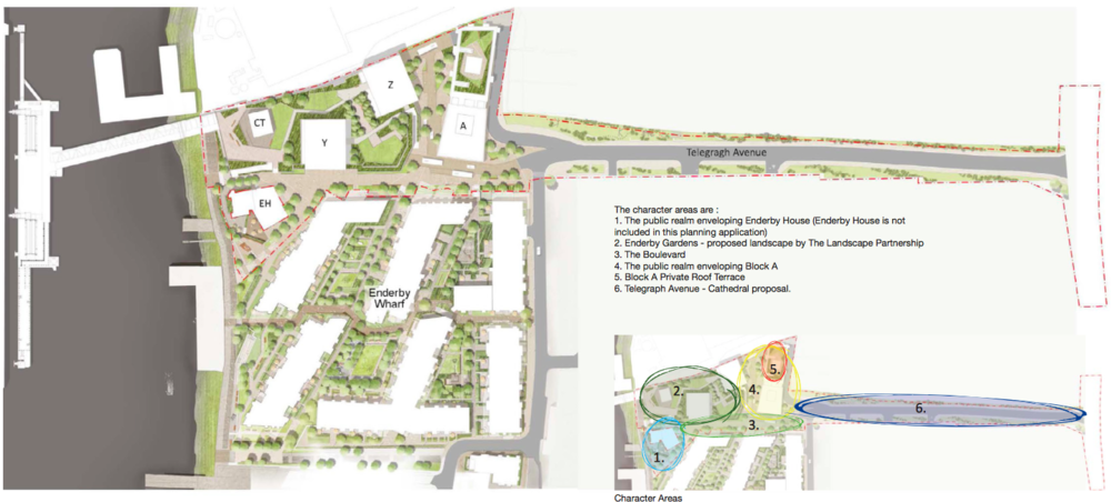 Character areas, Enderby Place [Manser Practice]