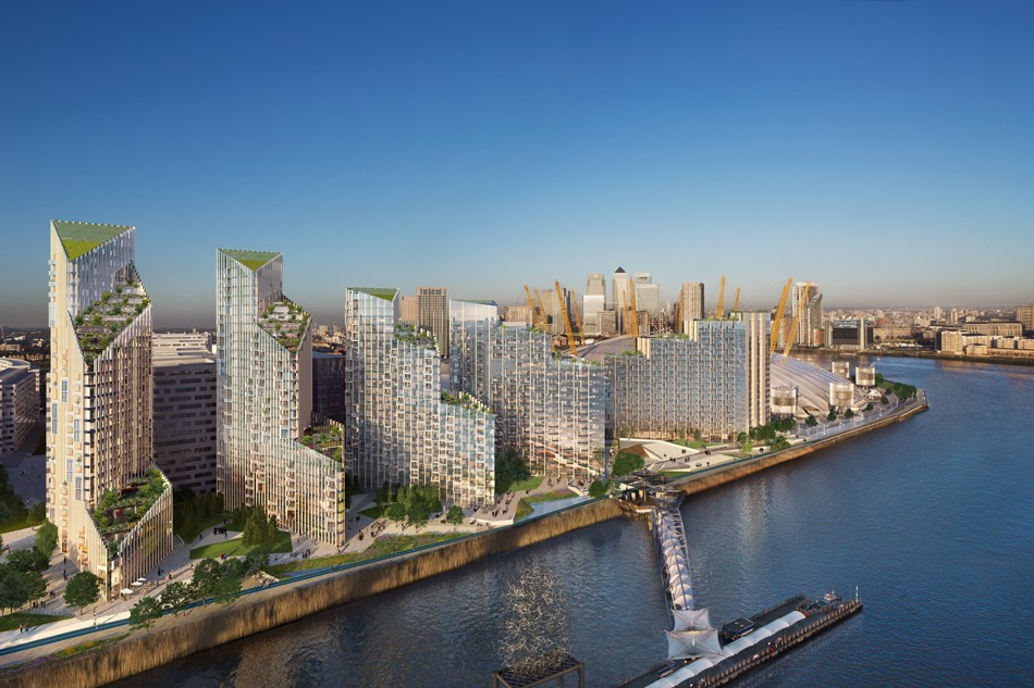 Construction of wider Upper Riverside development is due to complete in 2020 [Greenwich Peninsula]