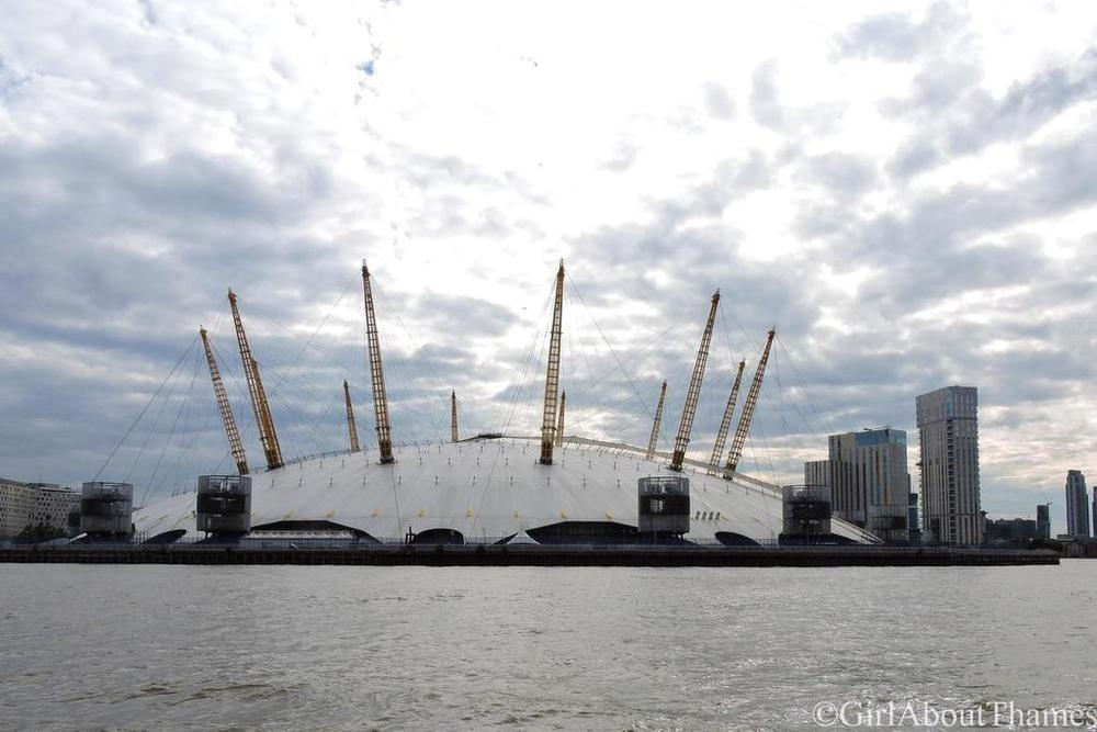 View of The O2 Arena and Incontinental Hotel from the Thames, September 2015 [ GirlAboutThames ]