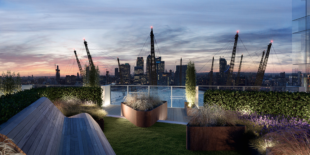 Roof terrace of Upper Riverside Building 2