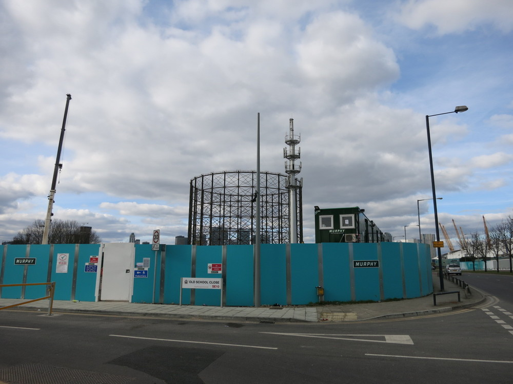 Hoardings around site of Substation -  March 2016  [greenpenlondon]
