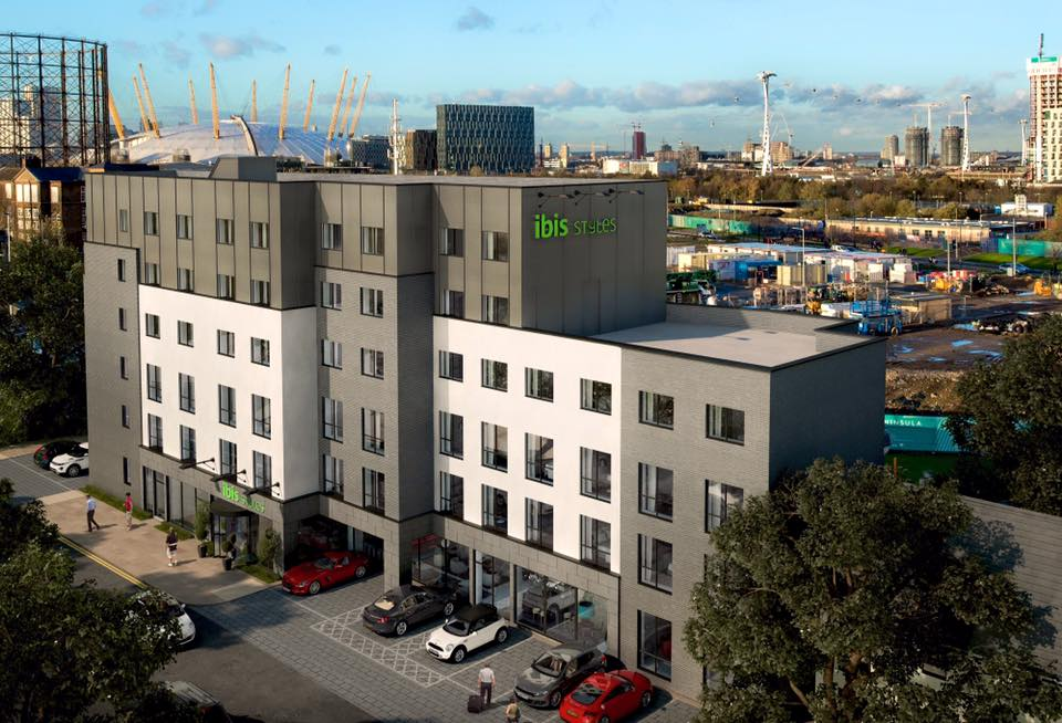CGI of 'ibis Styles Hotel Greenwich Peninsula' on Tunnel Avenue - released Nov 2015 [One Investments]