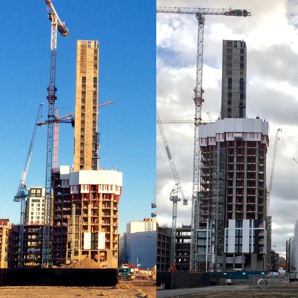 The Waterman construction progress - up to October 2015 [ @greenpenlondon ]