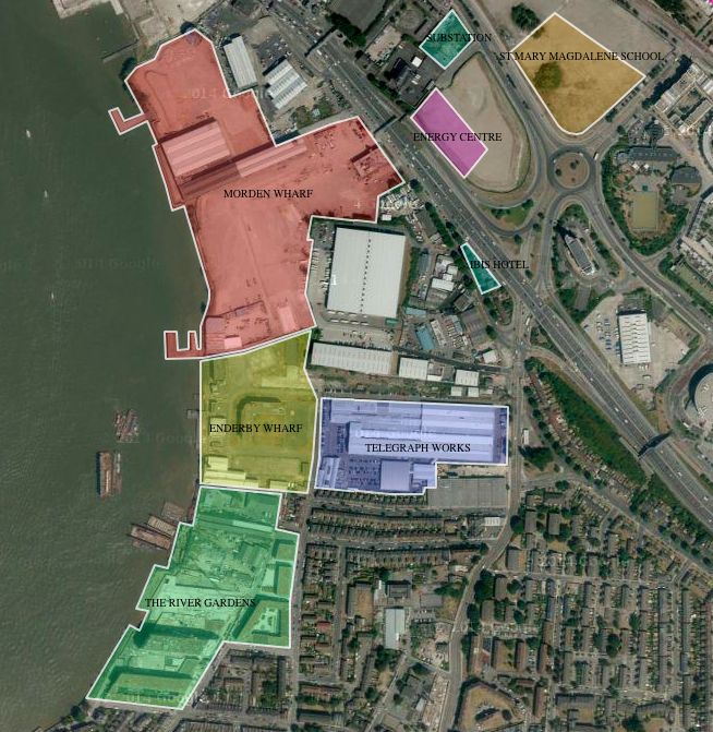 Peninsula West - local context, see interactive map   here     [ @greenpenlondon ]