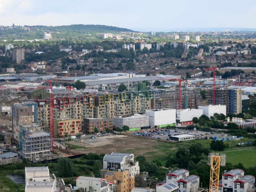 Construction progress on the latest phase of Greenwich Millennium Village development