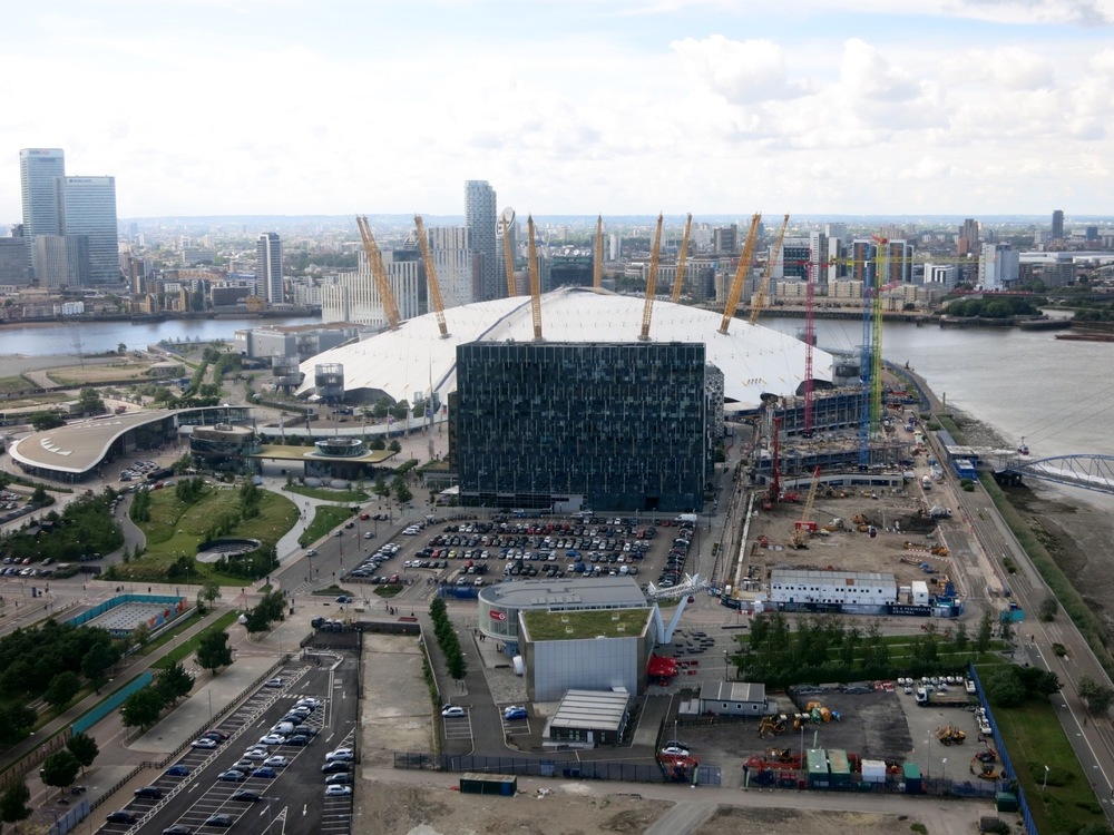 North Greenwich: The O2 Arena and Upper Riverside development
