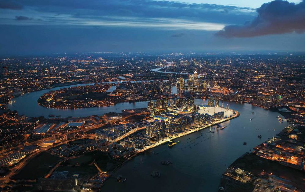 Knight Dragon's revised Greenwich Peninsula Masterplan 2015 by London-based architects Allies & Morrison