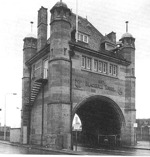 Entrance to the Blackwall Tunnel, completed 1879