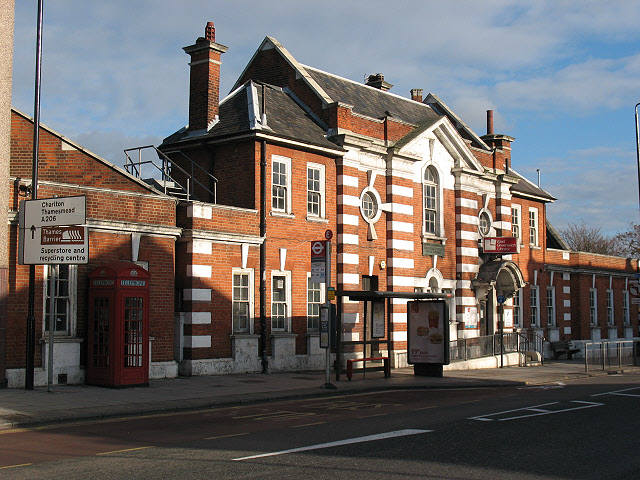 Former East Greenwich Library, closed in June 2015 - photo January 2011 [ Geograph }