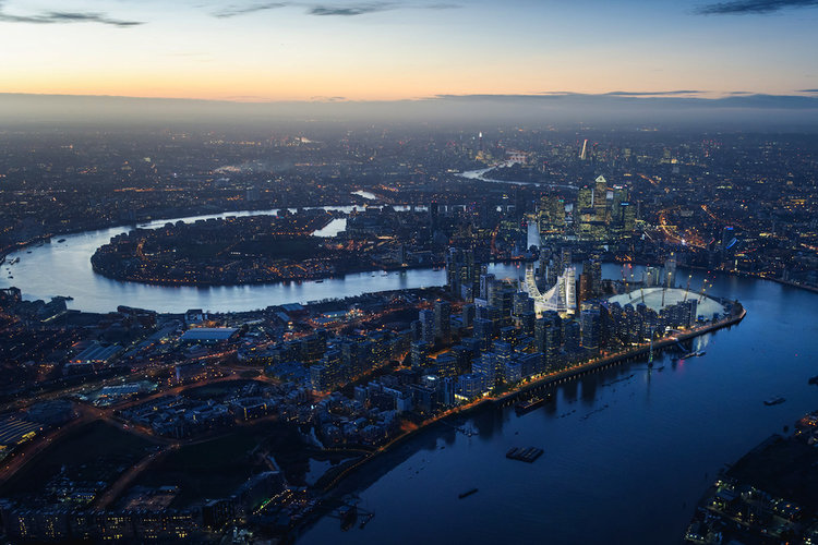 """Peninsula Place is a new 1.4 million sq ft landmark for London, designed by architect, engineer and artist Santiago Calatrava and set to transform Greenwich Peninsula"""