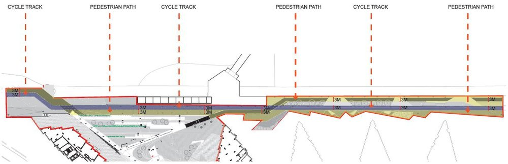 P5K Phase 1 - Separation of cycle, pedestrian and cycle tracks along riverfront