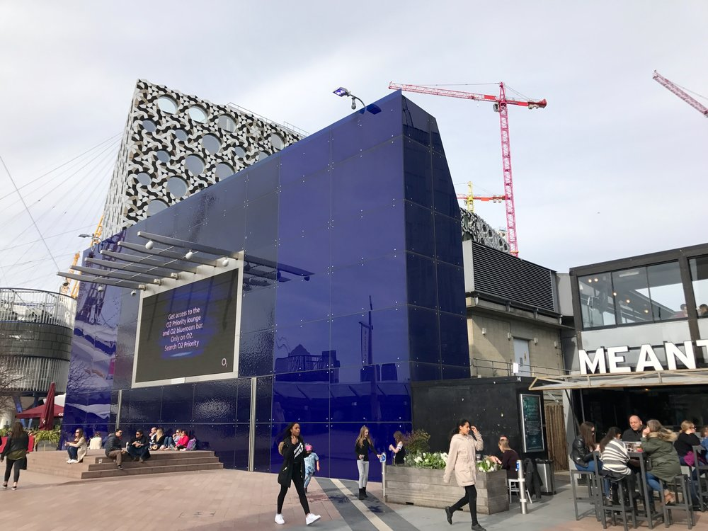 AEG screen mounted on TFL infrastructure at Peninsula Square, where P5K Phase One will begin - March 2017 [greenpen.london]