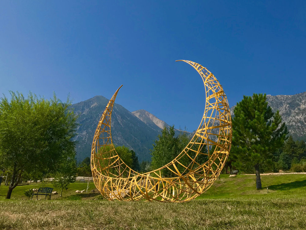 """Balsa Luna"" at Buffalo creek art center sculpture park, Minden, NV  12' x 10' x 4'"