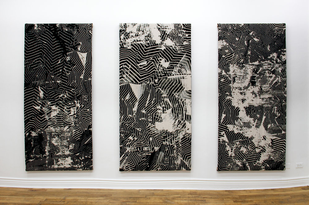 Untitled Tapestry 1, 2 & 3 Richard Blackwell and Ryan Ingerbritson