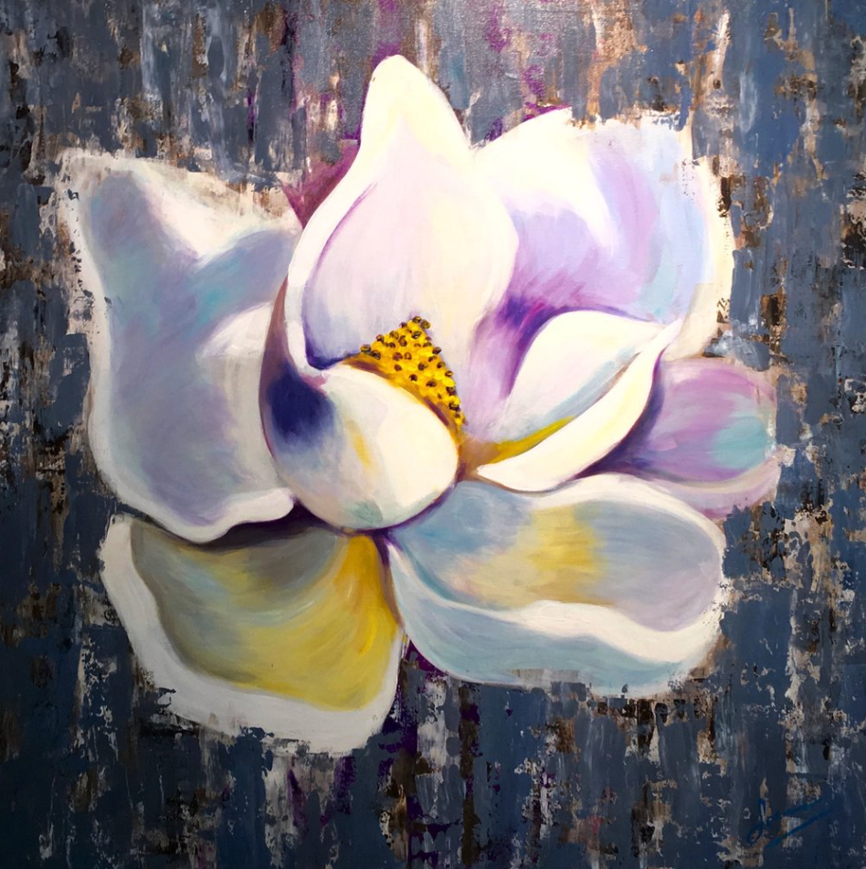 Lorena Masferrer - Lily Flowers / Abstract Acrylic paintings