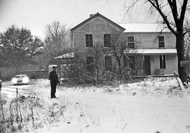 An actual picture of Ed Gein's farmhouse.