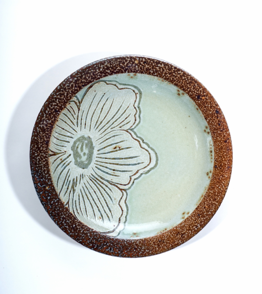 Carved Floral Plate