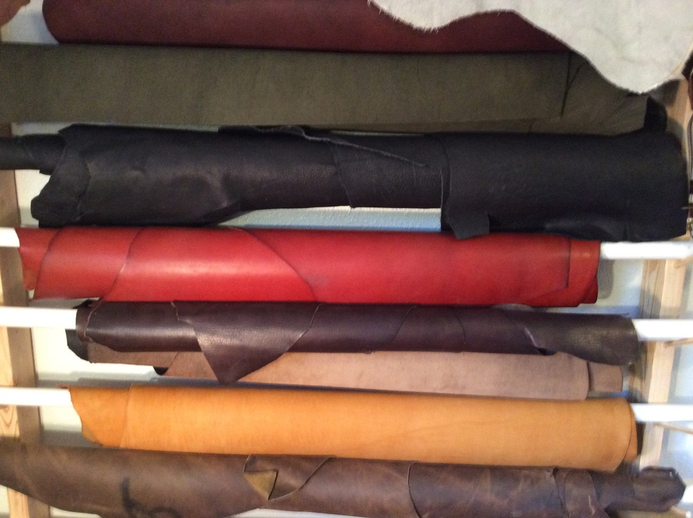This was a great solution for storing two dozen hides.  Most places fold or stack rolls of leather.  This keeps the separate.