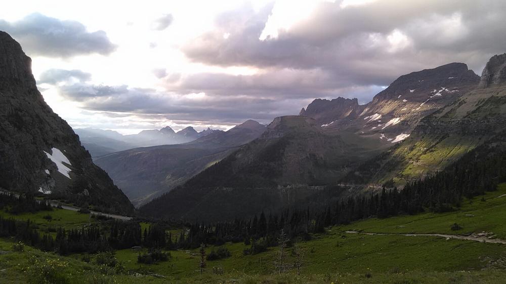 Near the top of Logan pass.