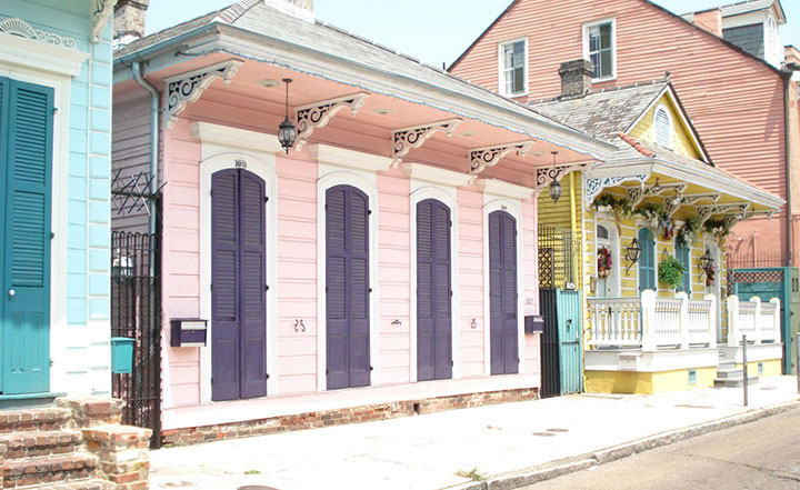 New Orleans painted houses