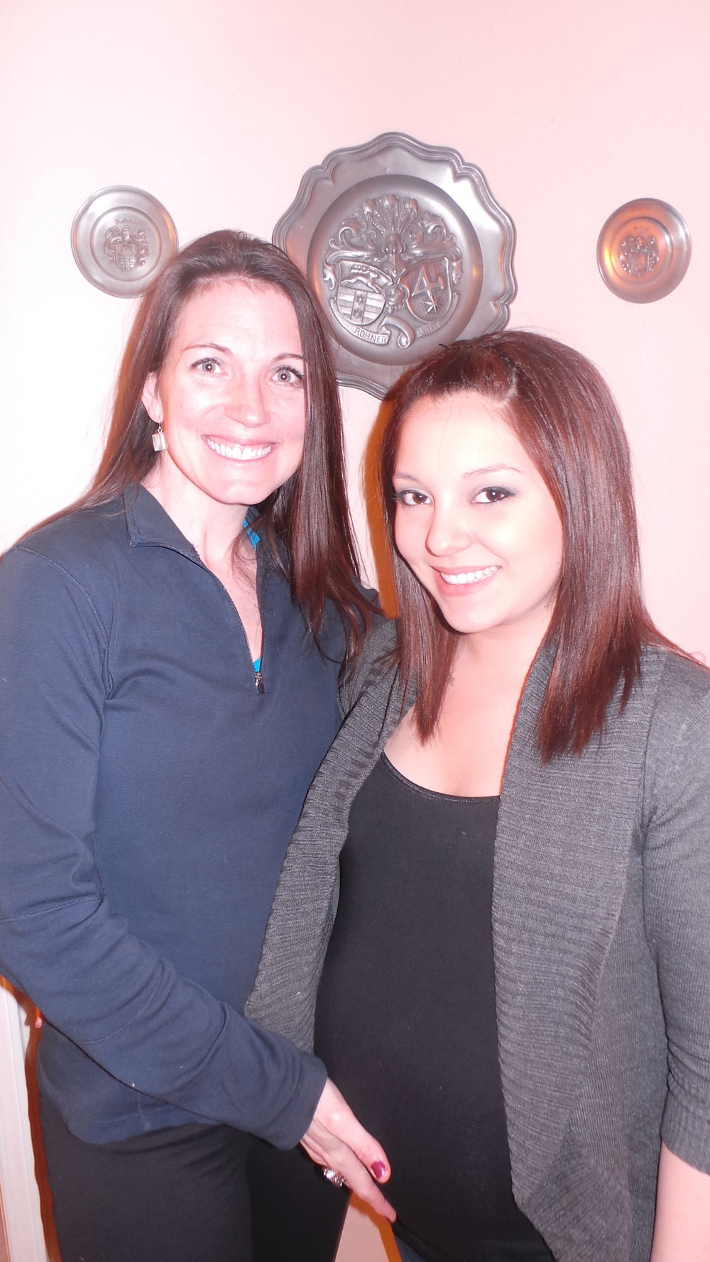 Photo op with the doula before date night! (and before going into labor!)