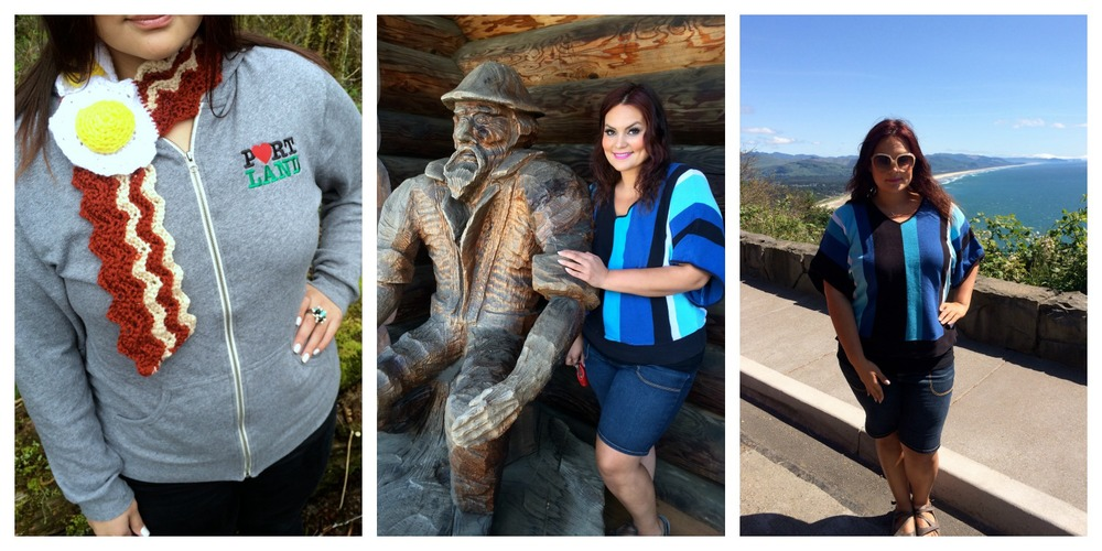 I live in the beautiful Pacific Northwest and while I might not typically meet many loggers during my commute I was more than happy to pose with this manly wooden man on the way to the coast.