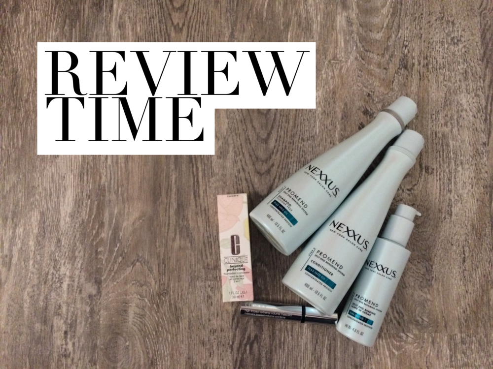 Review time: Clinique foundation + mascara plus new Nexxus hair products, Batiste dry shampoo