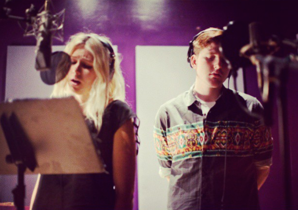 "recording the song ""night owl"" with sasha gibbs – photo by ALLISON OSBERG"