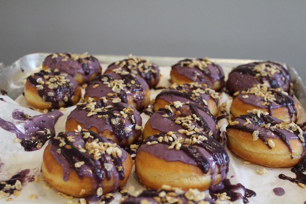 Hood Famous Bakeshop Ube Donuts