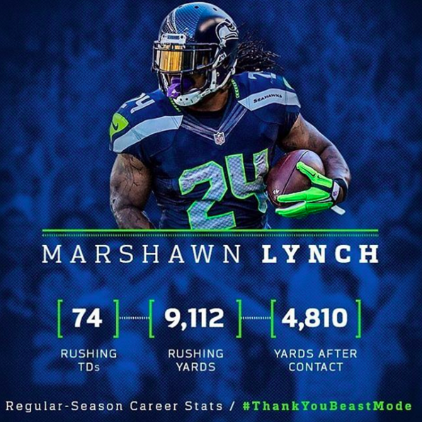 Marshawn Lynch retirement stats