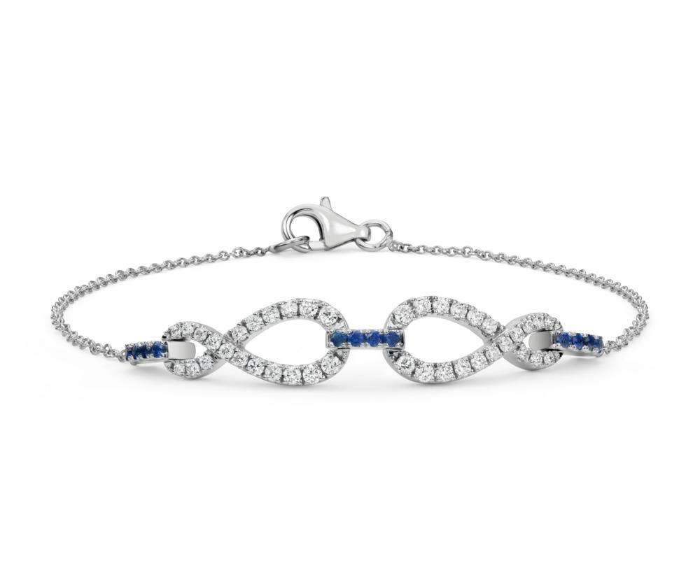 53563_Colin Cowie Diamond and Sapphire Infinity Chain Bracelet 14KW.jpg