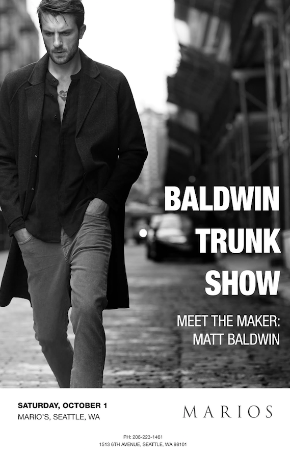 Baldwin Marios trunk show Seattle