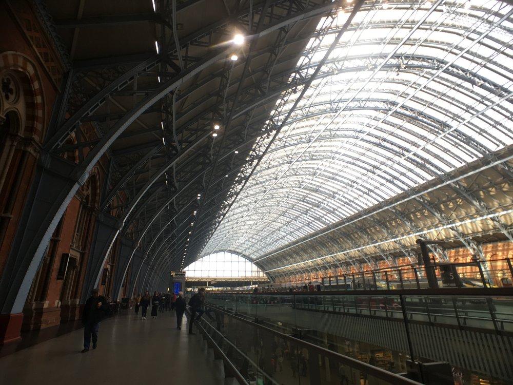 St. Pancras International Train Station.