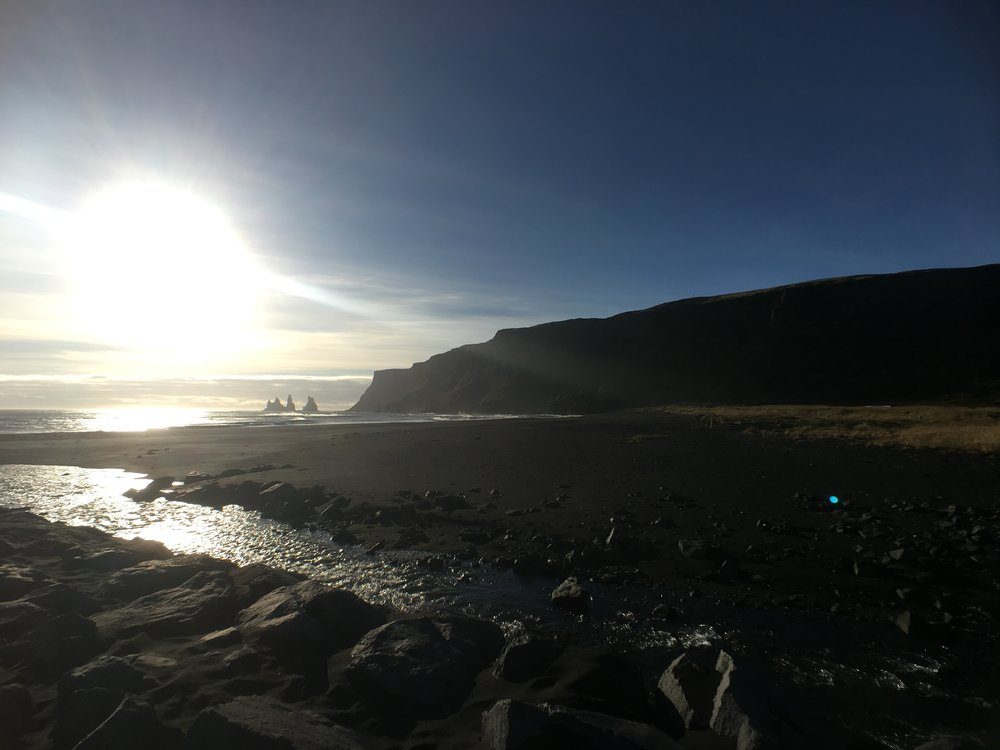 Black sand beaches at Vik