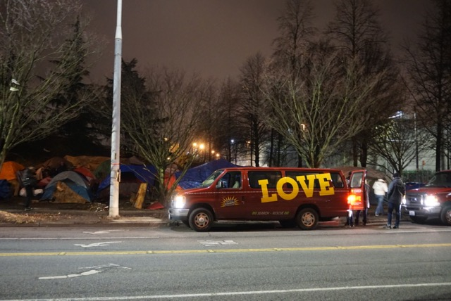 Royal Brougham Way homelessness encampment