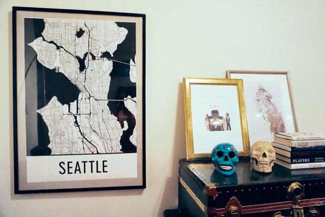 Modern Map Art Seattle Fresh Jess