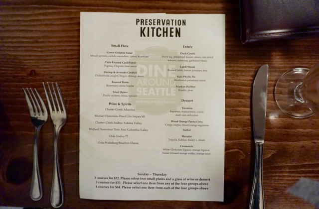 Dine Around Seattle Is On Through 3/26! Check Out Preservation ...