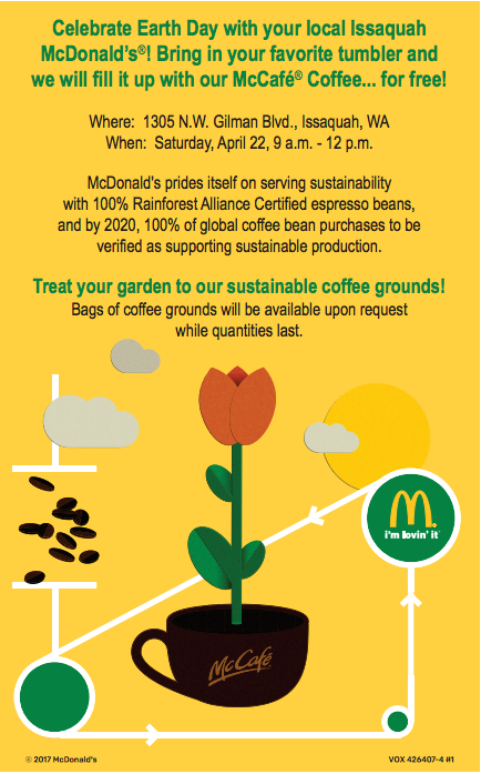 McDonald's Issaquah Earth Day