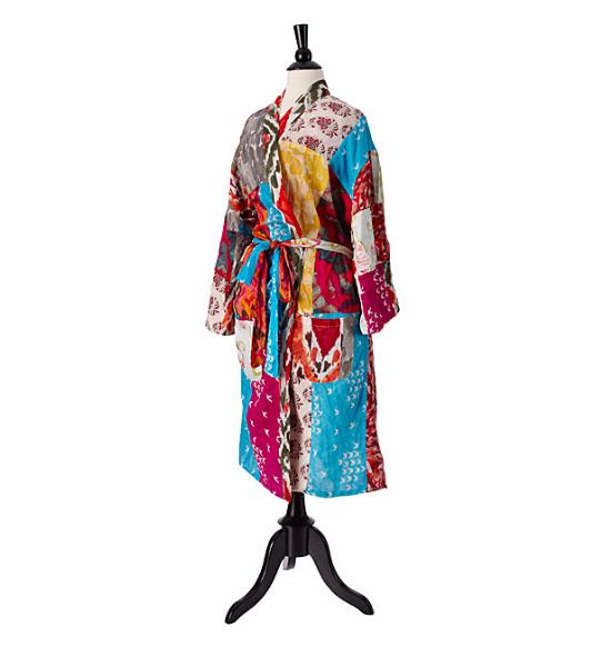 Upcycled Cotton Sari Robe