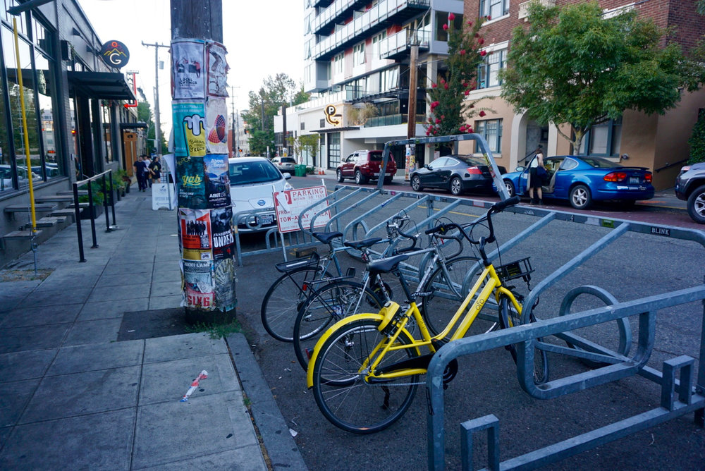 ofo Seattle bike share 3